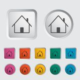 Home single icon. Royalty Free Stock Photography