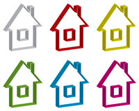 Home site buttons set Royalty Free Stock Images