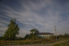 home skissar den lantliga husillustrationen för teckningen byn Arkivfoto