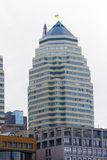 Home skyscrapers on a background of blue sky. Photo of the urban landscape and construction Stock Images