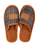 Home slipper. Isolated over white Royalty Free Stock Photography