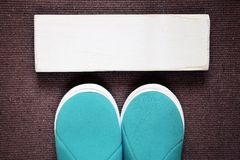 Home slippers Royalty Free Stock Photography