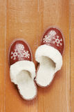 Home Slippers on floor Royalty Free Stock Photo