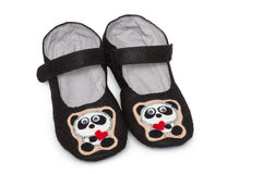 Home slippers. pandas image. Royalty Free Stock Photography