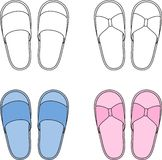 Home slippers Royalty Free Stock Image