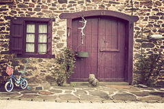 Home in a small village. Entry into the home of a small town Royalty Free Stock Images