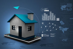 Home with smart phone Stock Photography