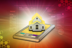 Home with smart phone Royalty Free Stock Photography