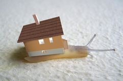 Home of the snail. 3d illustration Royalty Free Stock Images