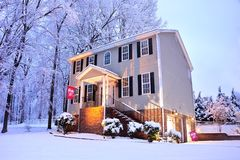 Home in the Snow Royalty Free Stock Photo