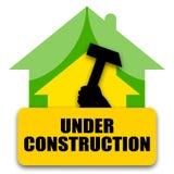 HOME sob a construção Foto de Stock Royalty Free