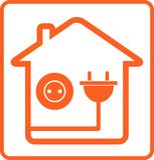 Home socket and plug vector illustration