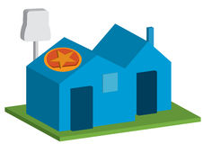 Home Solar Plug_eps Royalty Free Stock Photos