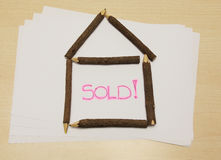 Home sold Royalty Free Stock Images