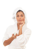 Home spa ritual Royalty Free Stock Images