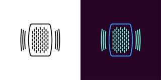 Home speaker illustration. Vector Voice assistant stock illustration