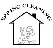 Home spring clean Stock Images
