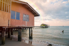 home stay at fishing Village to the sea Royalty Free Stock Photo