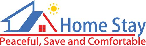 Home stay and logo template Royalty Free Stock Photo