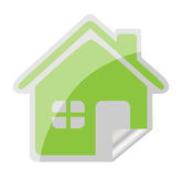 Home sticker icon Stock Photos