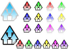 Home sticker icon Royalty Free Stock Photos