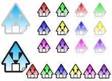 Home sticker icon vector illustration