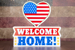 Home. A still life welcoming home a returning soldier royalty free stock photos
