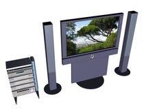 home stor skärmtelevisional för plasma 3 Arkivbild