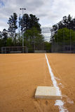 Home Stretch. Looking down the third base line on a baseball field, the home stretch Stock Photography