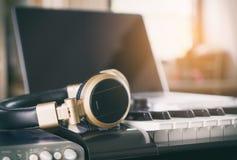 Home Studio Computer Music Equipment Royalty Free Stock Photo