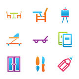 Home stuff icon set Stock Photo