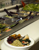 Home style cafeteria buffet Royalty Free Stock Images