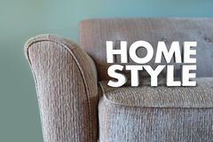 Home Style Couch Furniture Interior Design Decor Stock Photography