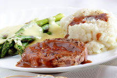 Home style dinner closeup Royalty Free Stock Photos