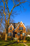 HOME suburbana em Illinois Foto de Stock