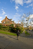 HOME suburbana em Seattle Foto de Stock