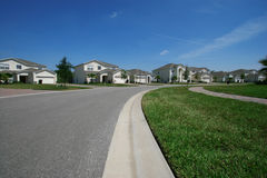 HOME suburbanas imagem de stock royalty free