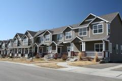 HOME suburbanas da cidade Foto de Stock Royalty Free