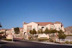 HOME suburbanas da vizinhança Imagem de Stock Royalty Free