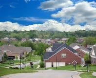 HOME suburbanas do tijolo foto de stock