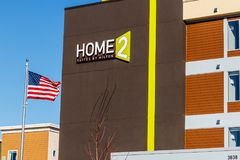 Lafayette - Circa February 2018: Home2 Suites by Hilton. Home2 Suites is an all-suite extended-stay hotel I. Home2 Suites by Hilton. Home2 Suites is an all-suite Stock Image