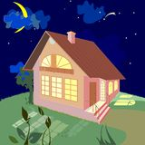 Home on a summer night Stock Photo