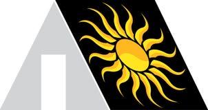 Home sun logo Royalty Free Stock Photography