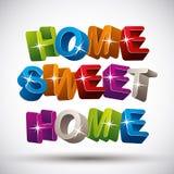 home sweet ilustracji
