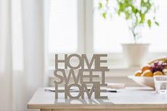 home sweet zdjęcie stock