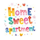 Home sweet apartment stock illustration