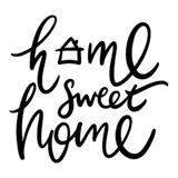 Home sweet home hand drawn vector lettering. vector illustration