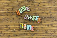 Free Home Sweet Heart Love Family Letterpress Royalty Free Stock Images - 131439169