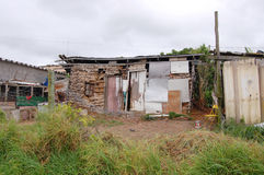 Home sweet home. Shanty house in informal settlement, Nemato Township, Eastern Cape, South Africa Stock Photo