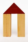 Home Sweet Home. Children's toys made from wood Royalty Free Stock Image
